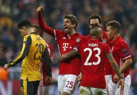 El Bayern aumenta los fantasmas del Arsenal