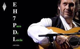 Transmisiones de radioaficionados de Algeciras en recuerdo del guitarrista Paco de Lucía