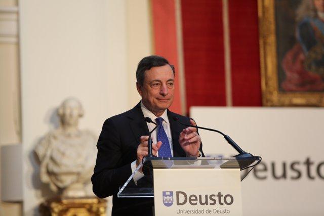 Mario Draghi participan en el centenario de Deusto Bussiness School