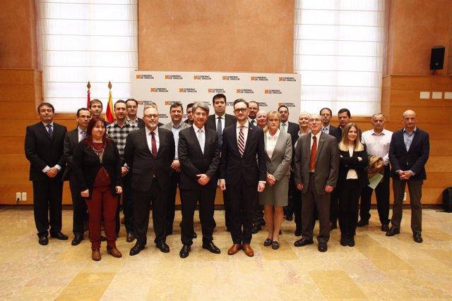 La delegación escocesa ha visitado hoy la sede del Gobierno de Aragón