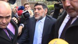 """La novia de Maradona no tiene """"nada que decir"""" a la Policía tras el incidente en el hotel"""
