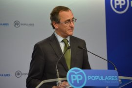 """Alonso dice que el Gobierno de PP intentará """"el diálogo hasta el final"""" con PNV"""