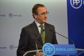 """Alonso dice que el Gobierno de PP intentará """"el diálogo hasta el final"""" con PNV para que no haya una legislatura fallida"""