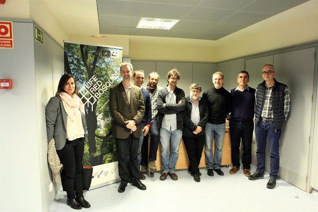 Expertos en gestión forestal del Bosque Mediterráneo Life RedBosques