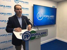 """Toscano (PP) pide al PSOE que aclare """"el precio"""" del acuerdo para retirar la moción de censura en Aljaraque"""