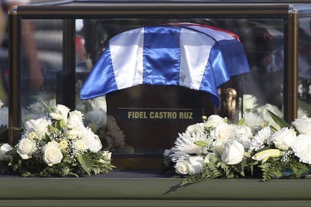 Urna con las cenizas de Fidel Castro