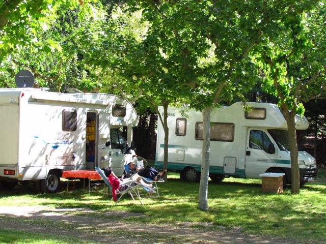 Caravanas en un camping
