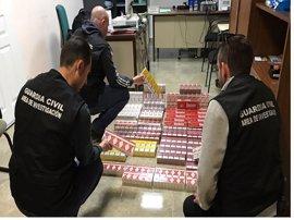 Intervenidas 670 cajetillas de tabaco de contrabando en Marmolejo (Jaén), valoradas en 3.000 euros