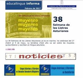 Política Lingüística estrena un boletín mensual de información sobre el asturiano en el ámbito educativo