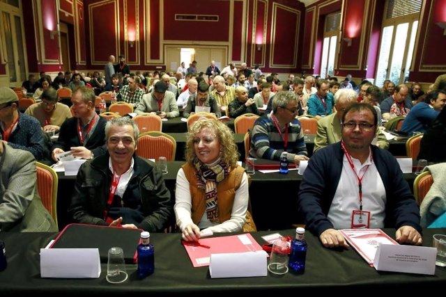 Tezanos en congreso CCOO