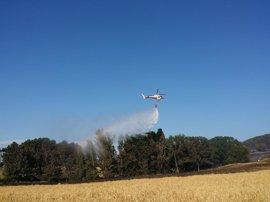 Aprobadas las actuaciones iniciales para la restauración del área afectada por el incendio de Tafalla