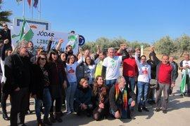 Podemos y ERC reclaman junto al SAT la libertad de Bódalo ante la cárcel de Jaén