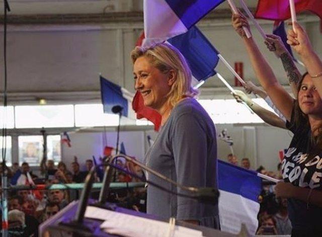 La líder del ultraderechista Frente Nacional, Marine Le Pen