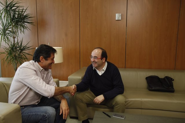 Reunió de Javier Fernández i Miquel Iceta a Ferraz