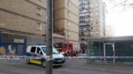 Un herido leve en un incendio en un edificio de Pamplona