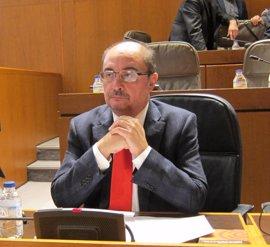 """Lambán cree que existe """"voluntad clara"""" por parte de Podemos para sacar adelante el presupuesto"""