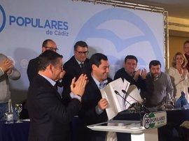 PP de Cádiz respalda en su Junta Directiva la candidatura de Juanma Moreno como presidente del PP-A