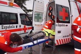 Cruz Roja realiza un ejercicio de simulación de accidente de tráfico con múltiples víctimas en Granada