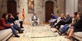 Puigdemont recibe a los organizadores de 'Casa nostra, casa vostra' en la Generalitat