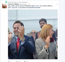 PP C-LM se vuelca en Twitter pidiendo a Cospedal que siga liderando el partido