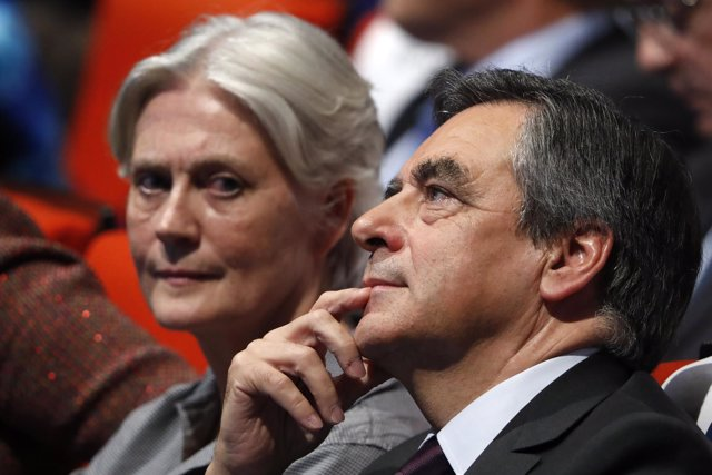 François Fillon y su mujer, Penelope