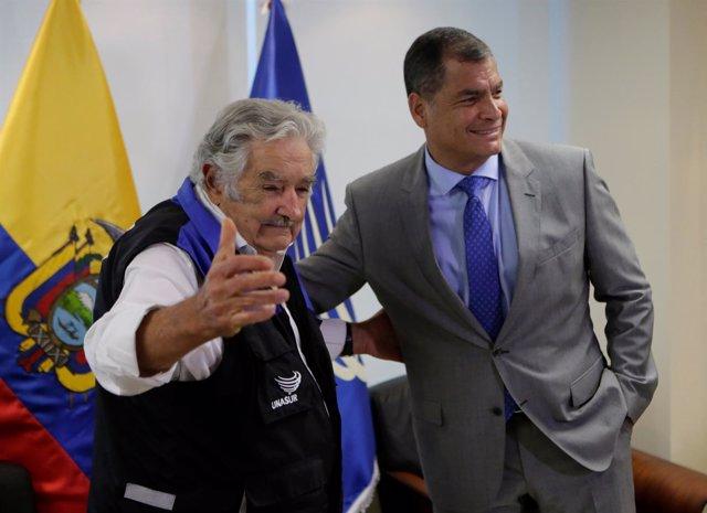 Rafael Correa Y Jose Mujica
