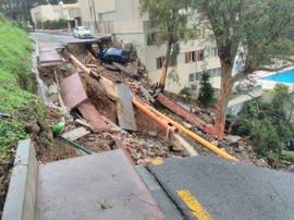 Los servicios municipales del Ayuntamiento de Málaga atienden cerca de 250 incidencias por lluvias