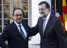 Rajoy y Hollande se reúnen este lunes en Málaga para impulsar el proyecto europeo