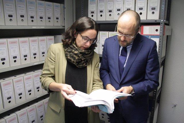 Los abogados Carmen Ladrón de Guevara y Antonio Guerrero