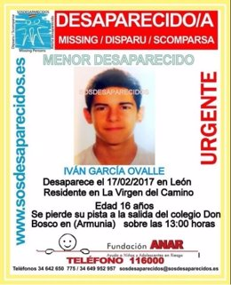 Menor desaparecido en León
