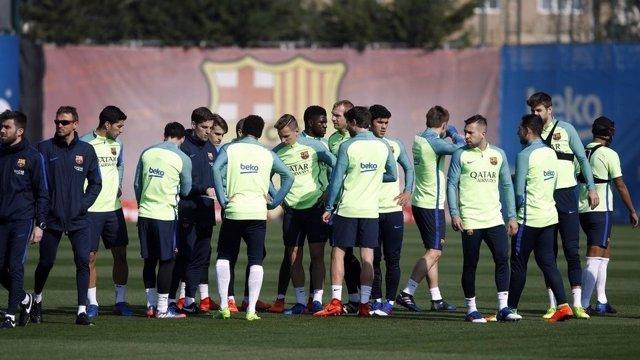 Barcelona entrenamiento