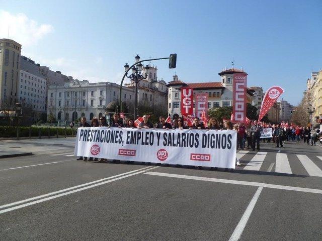 Manifestación en Santander