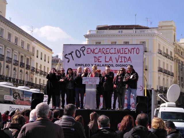 """Manifestación """"Stop al encarecimiento de la vida. Empleo y salarios dignos"""""""