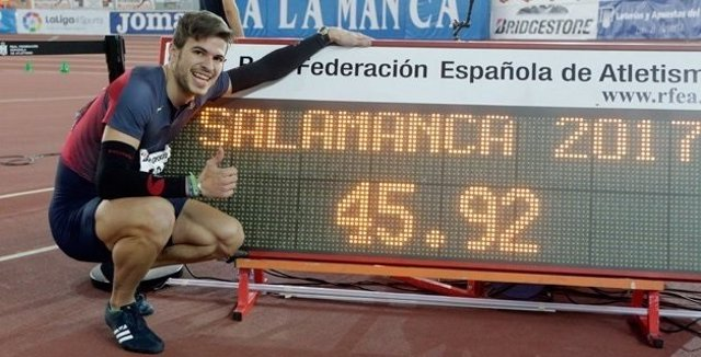 Óscar Husillos 400 metros Campeonato España Salamanca