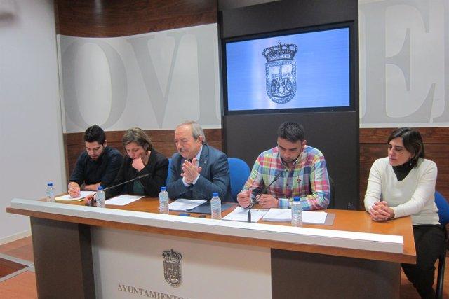 Presentación de los presupuestos de Oviedo para 2017.