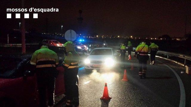 Control de tráfico de los Mossos d'Esquadra