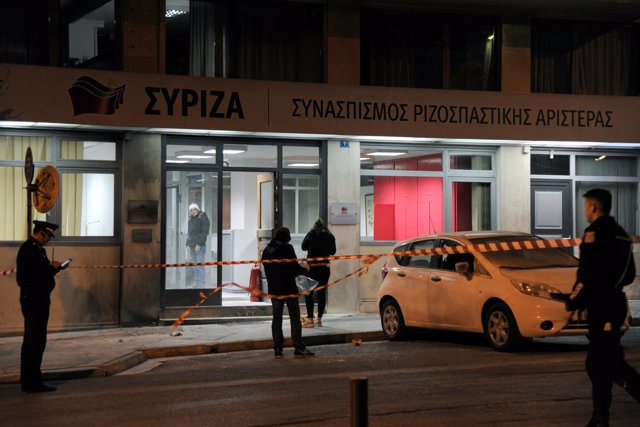 Sede en el centro de Atenas de la Coalición de Izquierda Radical SYRIZA
