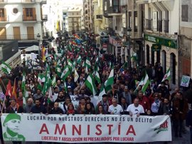Un millar de personas se reúnen en el centro de Jaén para reclamar la libertad de Andrés Bódalo