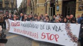 """CCOO y UGT Euskadi piden derogar la reforma laboral y reclaman pensiones """"dignas"""""""