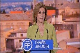 """Presidentes provinciales del PP C-LM escenifican el """"clamor"""" del partido para que Cospedal repita como presidenta"""