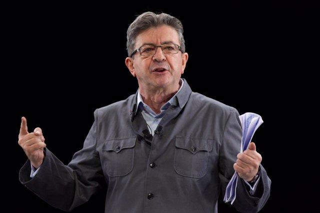 El candidato de La Francia Insumisa, Jean-Luc Mélenchon