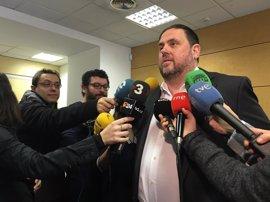 """Junqueras: el referéndum no es canjeable y """"nunca"""" se subordinará al permiso del Gobierno"""