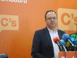 """Cs Extremadura cree que """"no se dan las condiciones para apoyar"""" una posible moción de censura en Badajoz"""