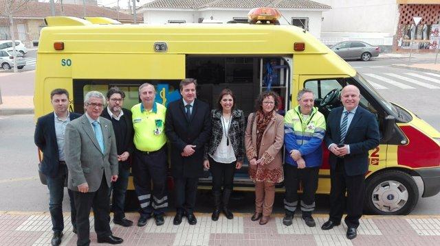 Guillén  visita el Servicio de Urgencias de Atención Primaria de Fuente Álamo