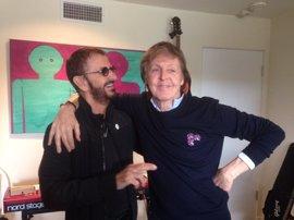 Paul McCartney y Ringo Starr, juntos en el estudio