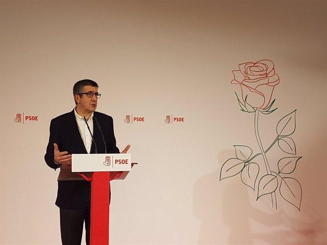 Patxi López presenta su candidatura para las primarias del PSOE