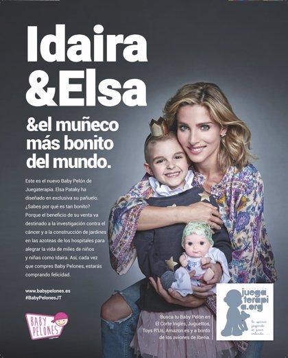 Juegaterapia presenta dos nuevos 'Baby Pelones' con pañuelos diseñados por Elsa Pataky y Ricky Martin