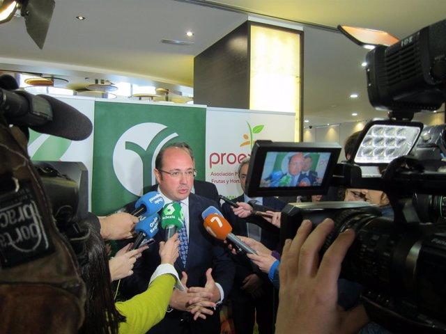 El Presidente De La Comunidad, Pedro Antonio Sánchez, En La Rueda De Prensa