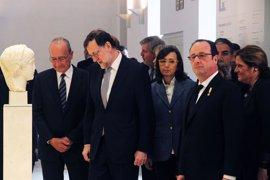 Rajoy y Hollande conocen la Colección Loringiana, la Tumba del Guerrero y el mosaico de Venus del Museo de Málaga