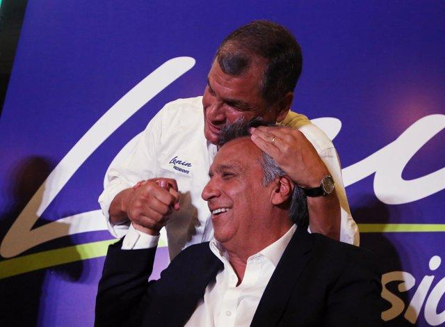 Rafael Correa y Lenin Moreno